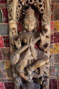 Carving of Saraswati