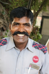 Gunasekaran, the ritzy hotel doorman and tamil language guru