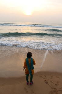 Krishna took us on a wonderful early morning beach walk.