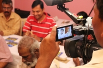 Kannan, our videographer at work