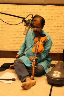 Krishna used my violin in a recording for a documentary film