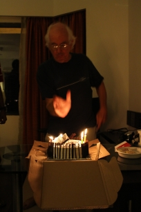 The breath is considered impure, so we blow out the candles with our hand