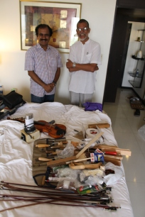 The luggage unloaded, with Krishna and Narasimhan - the room cleaner fled the scene